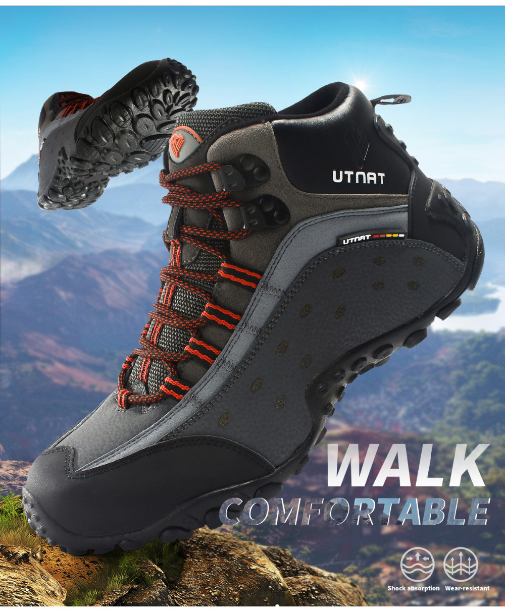1316e7e99c3 TANTU Waterproof Shoes Big Size Hiking Shoes for Men Breathable Mountain  Boots Anti-slippery Trekking Sneakers TM8039