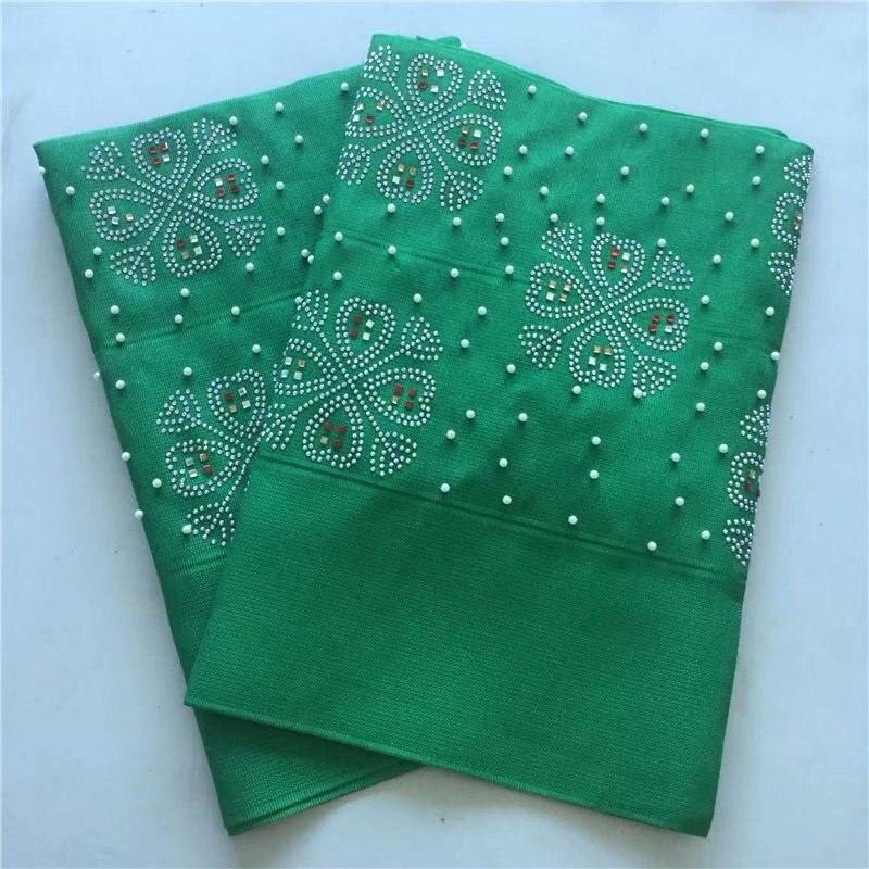 Cabeza de gele nigeriano aso oke con cuentas y piedras tela de encaje verde esmeralda de alta calidad cabeza Africana 2 unid/lote-in Decoración de tela from Hogar y Mascotas    1