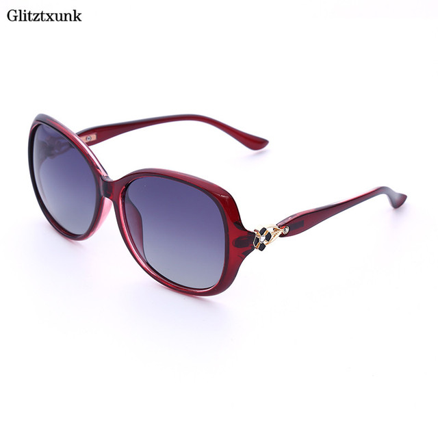 1a93f88e8ed6f Glitztxunk 2018 Female Polarized Sunglasses Brand Designer Sunglasses Sun Glasses  Fashion Women Decoration Classic Eyewear UV400