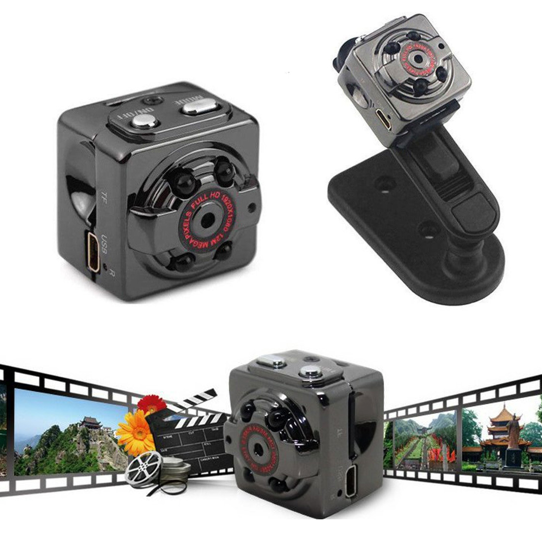 SQ8 Mini Camera Smart Dv Camcorder 1080P Full HD Wireless Body portable Sport recorder Infrared Night Vision Bicycle Micro Cam|Surveillance Cameras| |  - title=