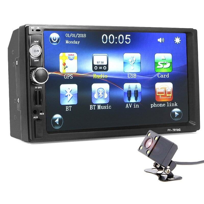 Autoradio 2 din autoradio GPS Navigation Lecteur Caméra Carte 7 pouce HD Bluetooth MP3 Audio Stéréo Électronique Automatique de direction -roue