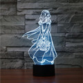 Novelty 3D Princess Decor Building Lamp Gadget Colorful Gradient LED Lighting Snow White Home Beside Nightlight for Girls Gift