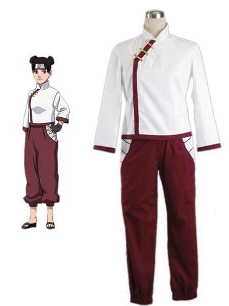 Free Shipping font b Naruto b font Tenten Ninja Uniform Anime font b Cosplay b font
