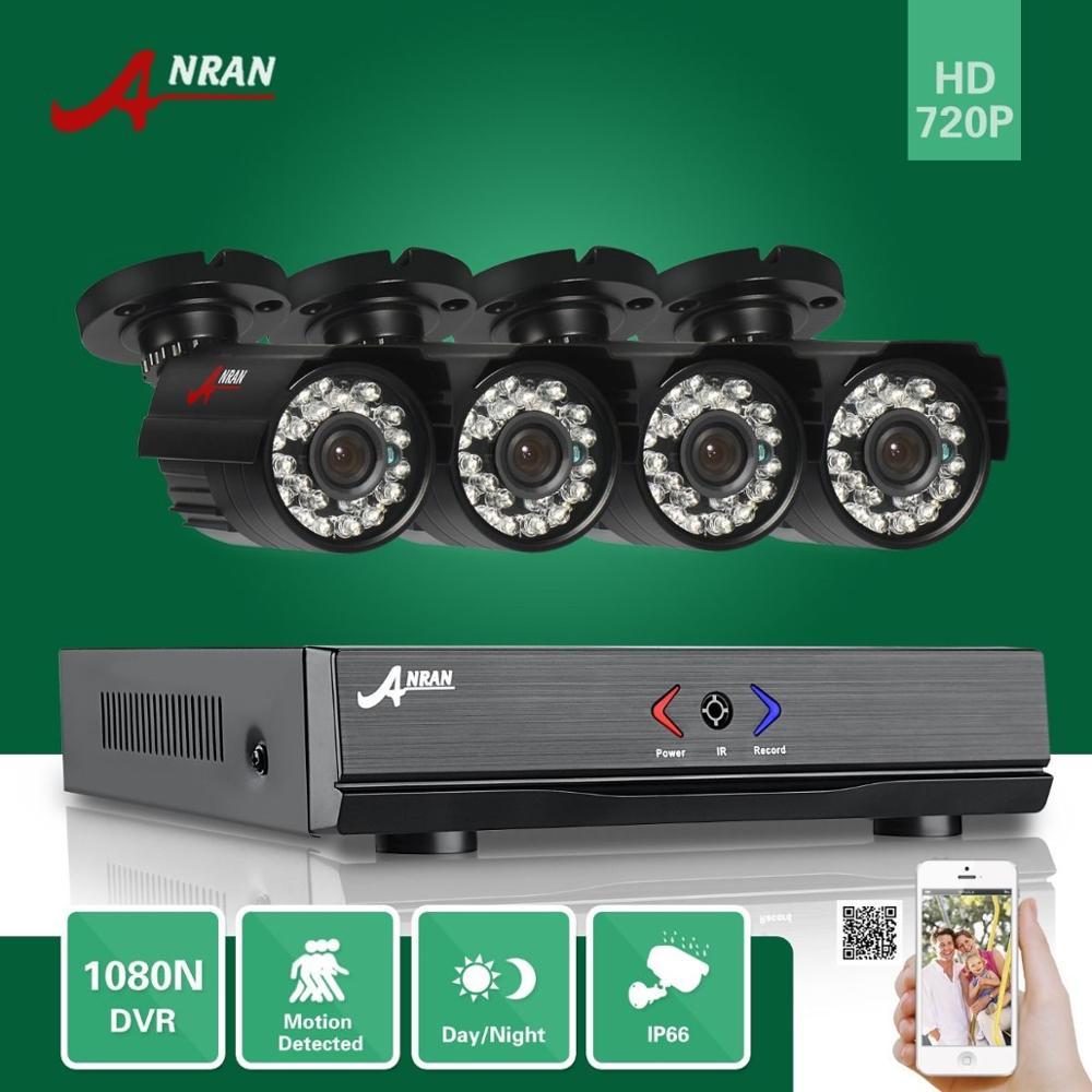 ANRAN 4CH HDMI 1080N AHD DVR HD Day Night 1800TVL Waterproof Outdoor 24IR IR Cut Camera