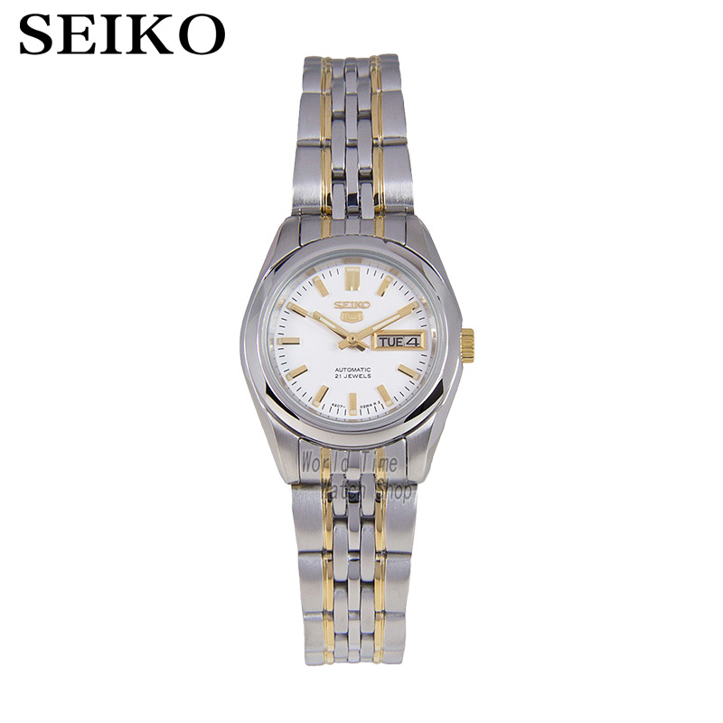 SEIKO Shield No. 5 Luminous gold pointer dual calendar white plate automatic machinery Ladies Watch SYMA35K1 SYMA27K1 seiko watch no 5 automatic shield on the 5th automatic machinery business female form symj03j1