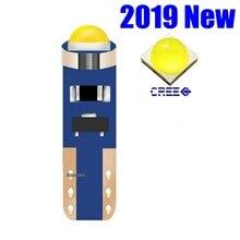 10 шт. T5 74 W1.2W W3W супер яркий Cree Чип светодиодный клин приборной панели лампа-индикатор Предупреждение ющий индикатор инструмент кластерный светильник лампа