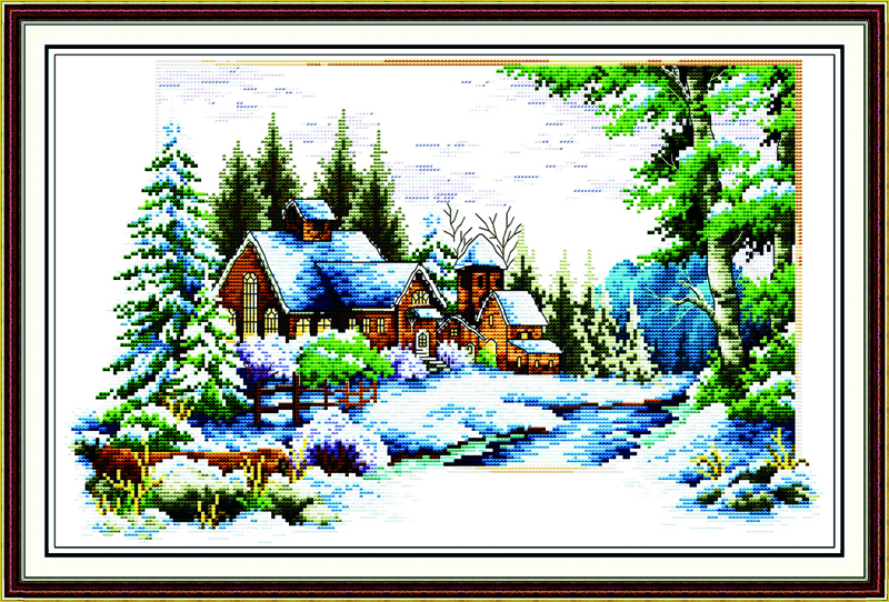 Delight in winter Cross Stitch Kits 11CT Printed 14CT Cross Stitch Set DIY Chinese Cross-stitch Counted Embroidery Needlework