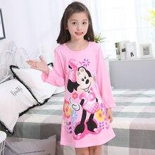2019 spring children nightdress Cartoon Kids Sleepwear Princess Pajama girl Nightdress Baby nightgown Teenage garment clothes