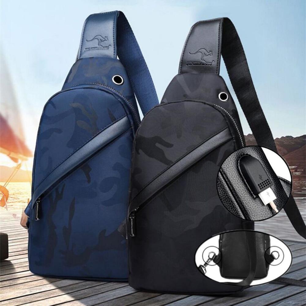 100% QualitäT Männer Casual Reisetasche Anti Theft Kreuz Schulter Tasche Fashion Outdoor Sport Brust Pack Leinwand Usb Lade Handtasche