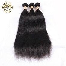 Король волос Реми бразильские прямые волосы ткань 8-28 дюймов натуральный Цвет цельнокроеное Платье Двойной Уток 100% Человеческие волосы Связки могут быть окрашены