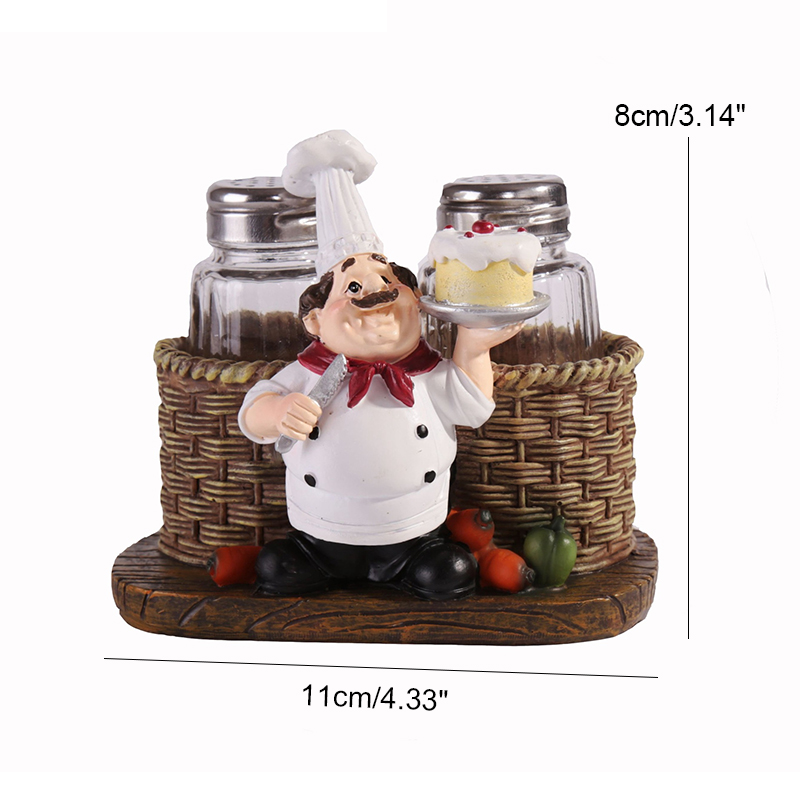 Strongwell Modern Chef Pepper Bottle Model Figurine Chef Ornament Creative Chef Home Decoration Accessories Gifts Cartoon in Figurines Miniatures from Home Garden