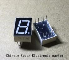 """100 шт. LD 5161AG 1 цифра 0,56 """"Зеленый 7 сегментный светодиодный дисплей общий катод"""