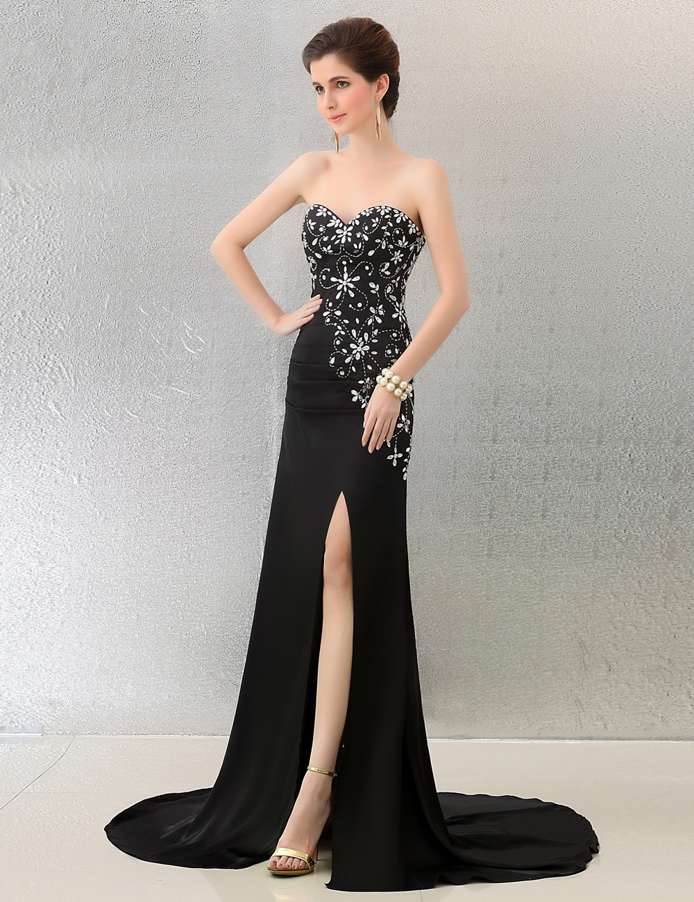 Luxury Black Gala Gown Elaboration - Images for wedding gown ideas ...