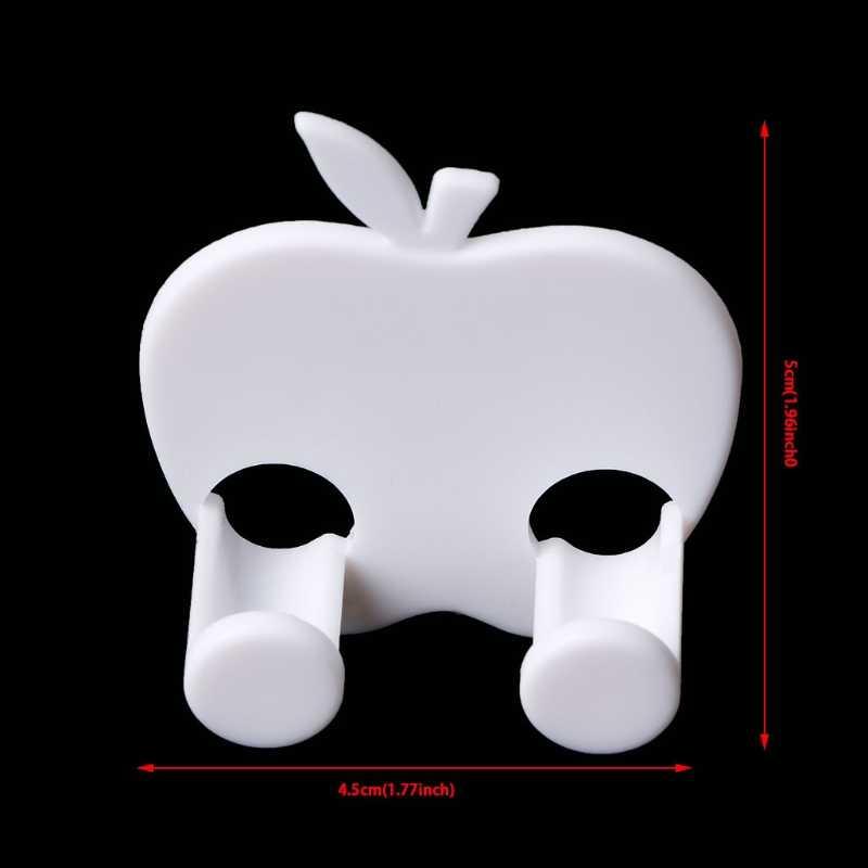 Новый разъем питания в форме яблока, разъем для розетки, держатель Вешалка для сумок, домашняя стена