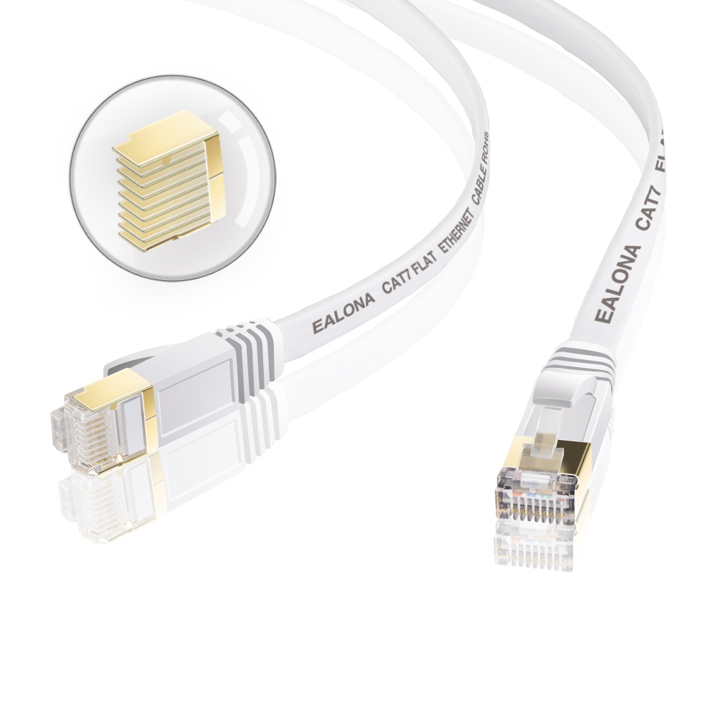 Ethernet Cable Cat7 Lan Cable RJ45 SSTP White Network Cable 1m/2m/3m/5m/8m/15m/30m Cat 7 Patch Cord Cable For PC Router Laptop