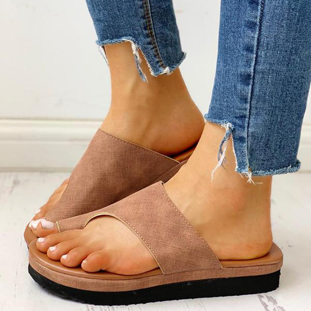 Sandal Shoes Platform Foot-Correction Orthopedic Bunion Flat-Sole Comfy Women Ladies