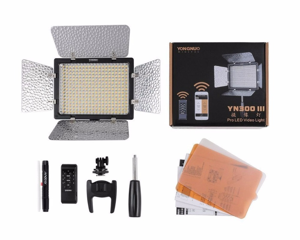 Yongnuo YN300-III YN 300 III Pro LED Video Light for Canon for Nikon for Pentax for Olympus for Panasonic JVC wordperfect® for windowstm