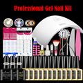 SUN9c Plus Gel Nail Polish Starter Kit for Salon Personal Gel Manicure, Cure All LED UV Builder Nail Gel, No Chip High Gloss