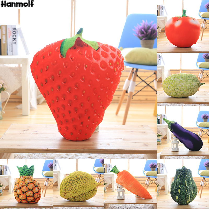 Fruits Salad Plush Pillow Summer Stuffed Food Icecream Pillow Pineapple/watermelon/dragon Fruit/hami Melon Snack Throw Pillow At All Costs Toys & Hobbies