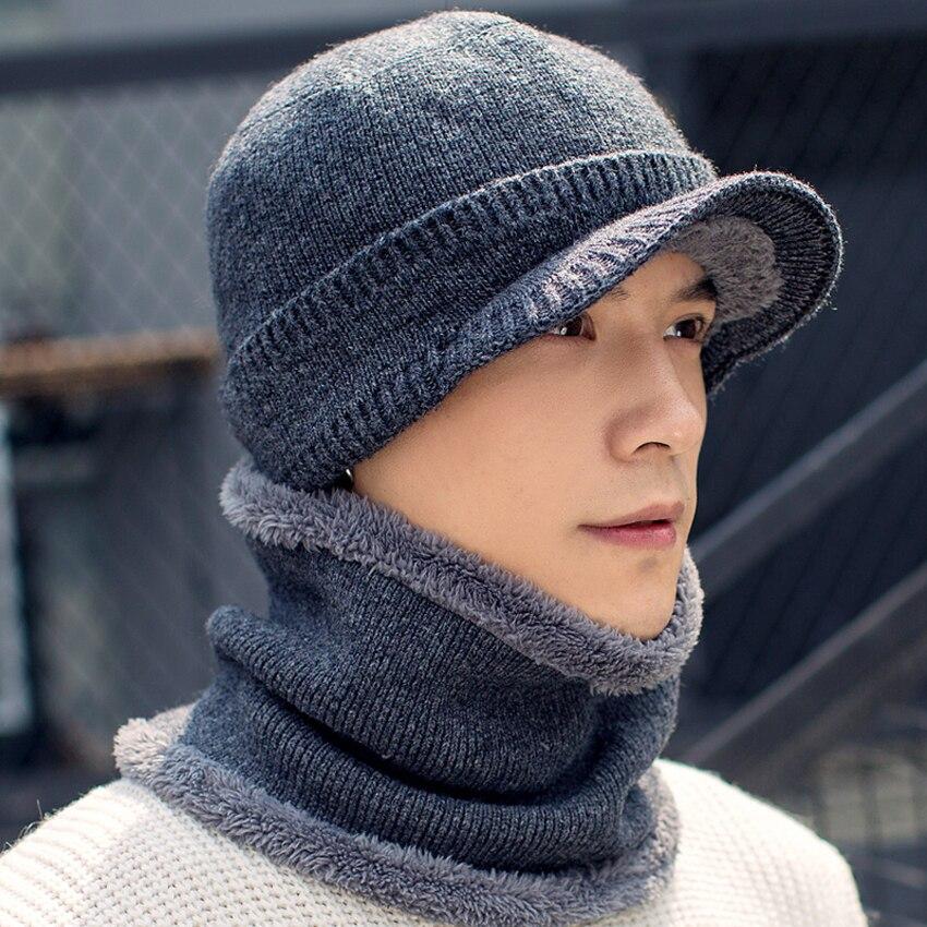 Winter Hats   Skullies     Beanies   Hat for Men Women Wool Knit Warm Plush Scarf Caps Balaclava Mask Gorras Bonnet Knitted Snow Ski Hat