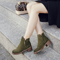 Women Winter Boots Fur 2016 Solid European Ladies Shoes Martin Boots Suede Warm Cotton Ankle Boots Women Shoes 3-5cm Bottom Sole