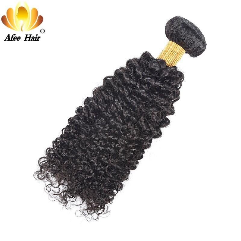AliAfee Hair Kinky Curly Brazilian Remy Hair 8-28inch 1pc 100% Human Hair Weave Bundles Can Buy 3 Bundles Deal Can Be Dye