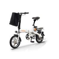 Электрический автомобиль Электрический Скутер Аккумулятор автомобиль складной водитель ассистированный велосипед 48V12AH