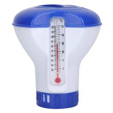 5 Inch Swimming Pool Chemical Chlorine Dispenser Floating With Automatic Thermometer Disinfection Applicator Pump