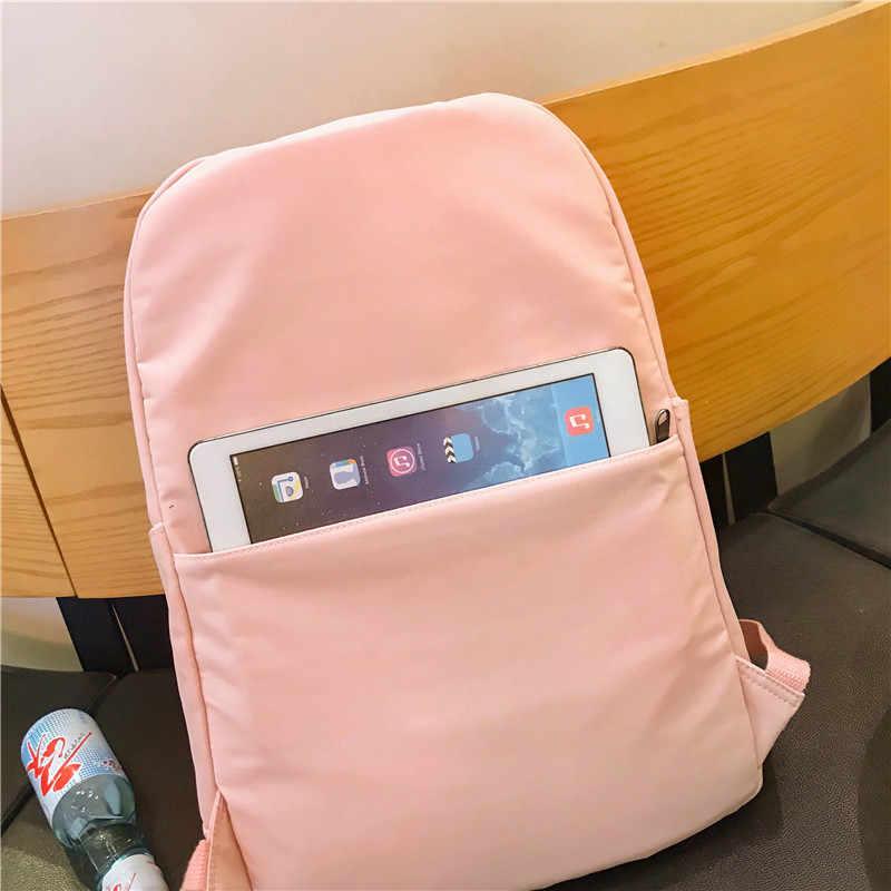 DCIMOR водонепроницаемый нейлоновый женский рюкзак женский большой емкости высокий школьный корейский Винтаж сумки через плечо для девочек Дорожная сумка Mochila