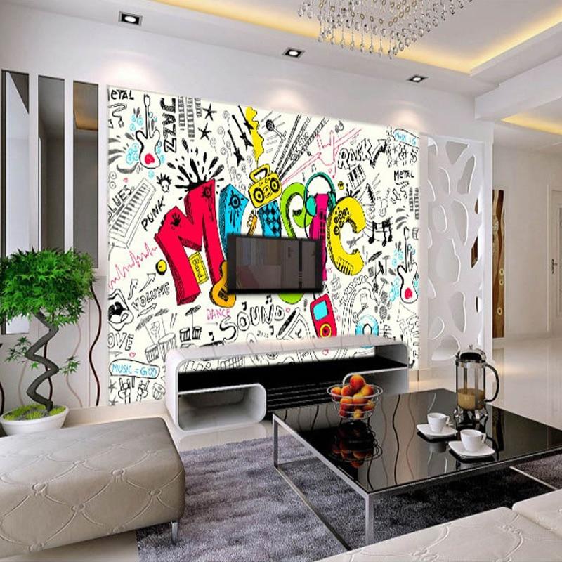modern simple music theme photo wallpaper personality creative 3d