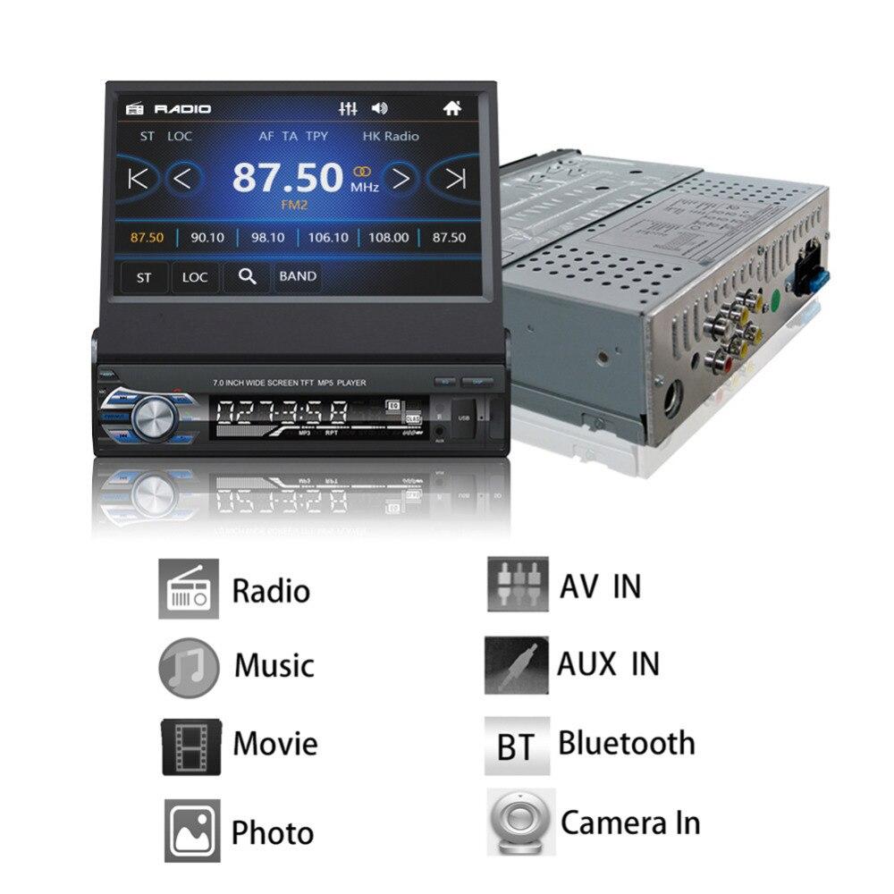RM-GW9601 7 pouces glisser vers le bas 1DIN autoradio FM avec USB SD cartes australiennes autoradio seulement Bluetooth traction MP3 MP4 MP5 lecteur