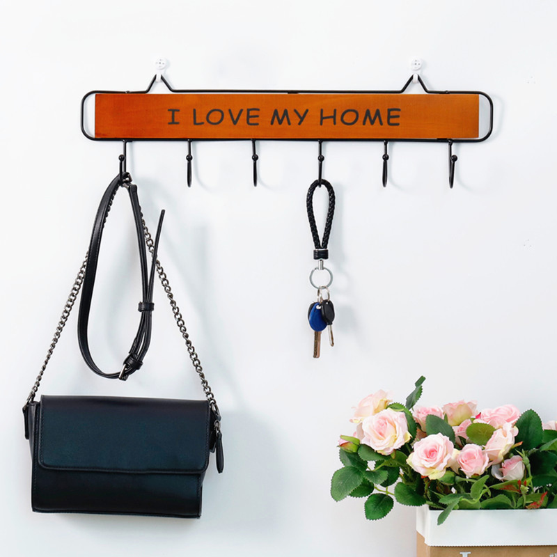 4/5/6 Hooks Vintage Key Holder Clothes Storage Hook Wall Hanging Hanger Home Decor Hanger Accessories Hooks Coat Hooks Rack