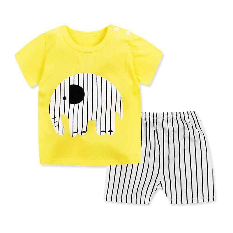 2020 新しい夏の子供のセットコットンベビー半袖の服セットベビー少年少女ボディスーツ漫画の子供服セット