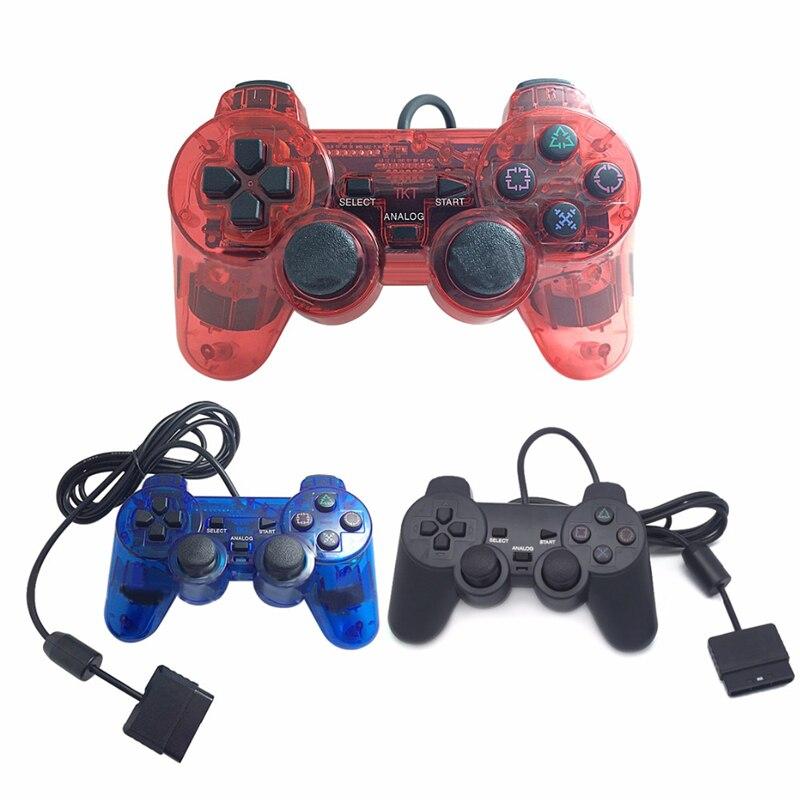 Mando de juego con cable de 2,4G para mando de PS2 Playstation 2 Vibration Video jugar a videojuegos para Sony PS2 Joypad Saturno 70W Era spb-6 LED moderno con Grupo remoto controlado regulable lámpara de cambio de Color sala de estar