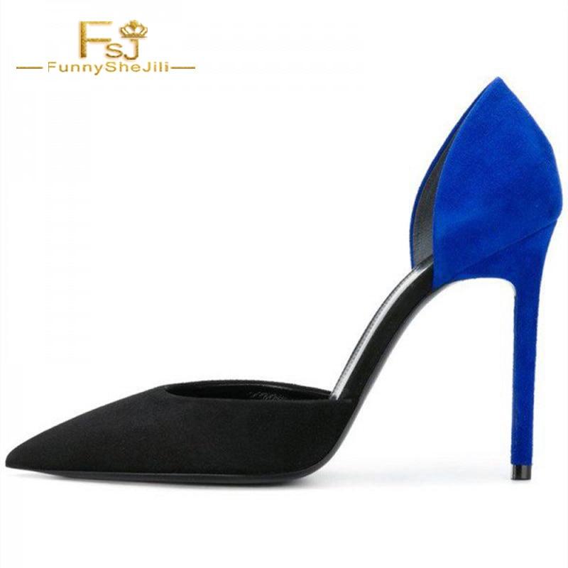 Automne Printemps Taille Sexy Pompes Femmes Noir Plus 2018 Talons 15 Fsj01 Bleu Mature Partie Bureau Dames Chaussures Carrés 14 11 1Pqwgvw