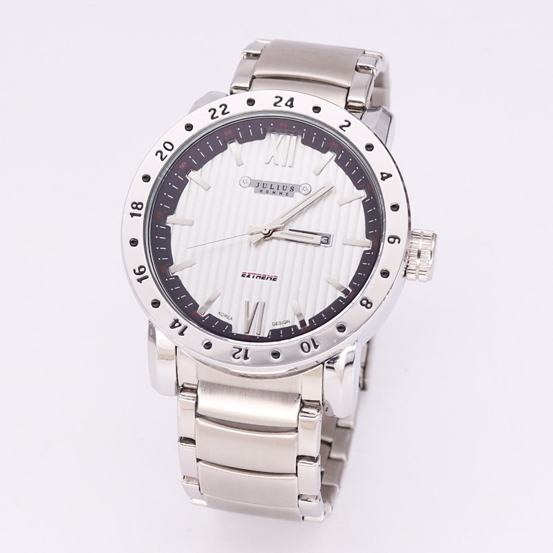 Real Multi-functions Julius Mens Watch Fashion Hours Dress Stainless Steel Business Boys Birthday Fathers Day Gift Box