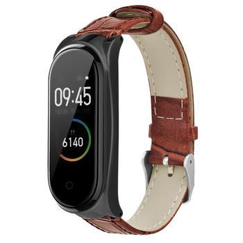 PU Leather Band Strap for Xiaomi Mi Band 4/Mi Band 3 Smartwatch Smart Bracelet Wrist Strap for Xiaomi Mi Band 3/Mi Band 4 фото