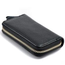 2017 New Cowhide Leather Zipper Purse Bag Women Car Key Wallets Fashion Multifunction Housekeeper Holders Men Key bags