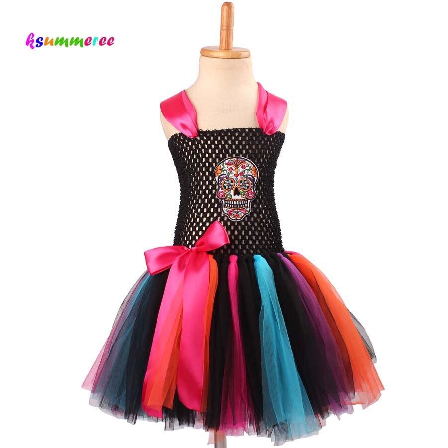 Ksummeree Хэллоуин или Пурим платье-пачка Обувь для девочек маскарадное нарядное платье детские реквизит для фотосессии Радуга Детские платья ...
