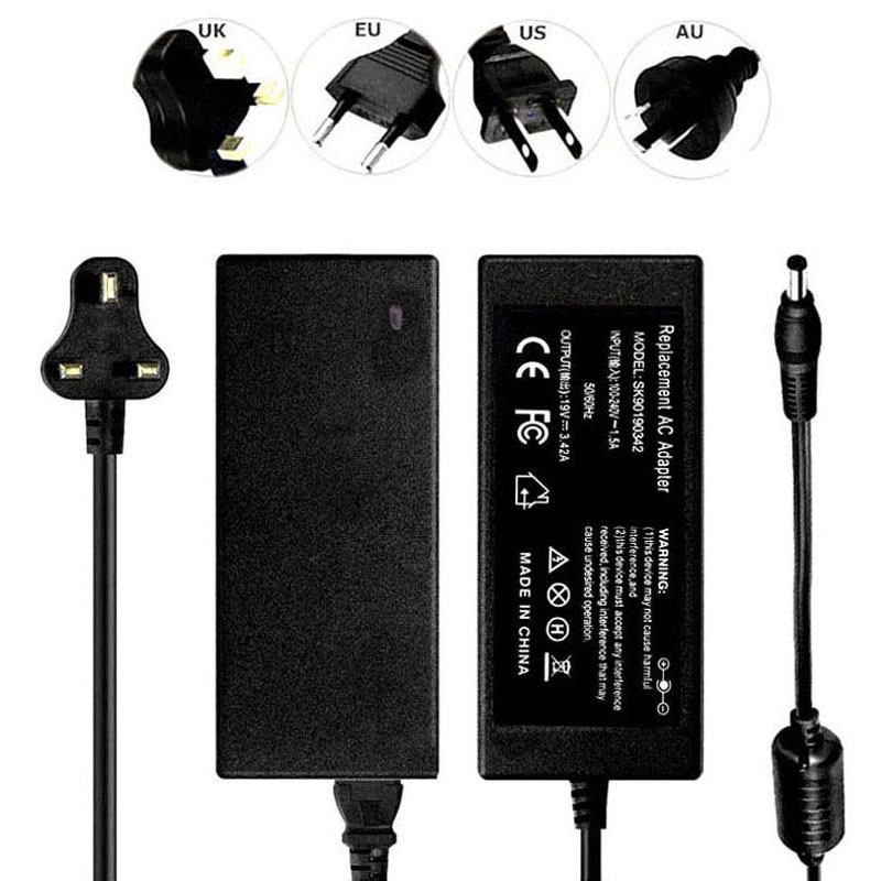 19V 3.42A 65W AC Adapter Power Cord Battery Charger For Acer Hipro HP-A0652R3B