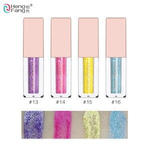 Блестящие тени для век с алмазной бусиной, жидкие тени для век, 6 видов цветов, 3,8 г, макияж для красивых глаз, бренд HengFang
