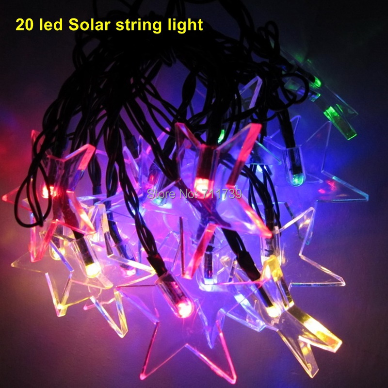 5set 20 led solar light outdoor string lights for garden solar fairy string lights for outdoor homes Christmas party solar powered 0 64w 10lm 200 led blue light garden christmas party string fairy light blue 20 5m