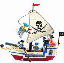 Enlighten 304 Pirates Black Pearl Skeleton Flag Corsair Pirates Ship Minifigure 2016 Assemble Building Block   Toys