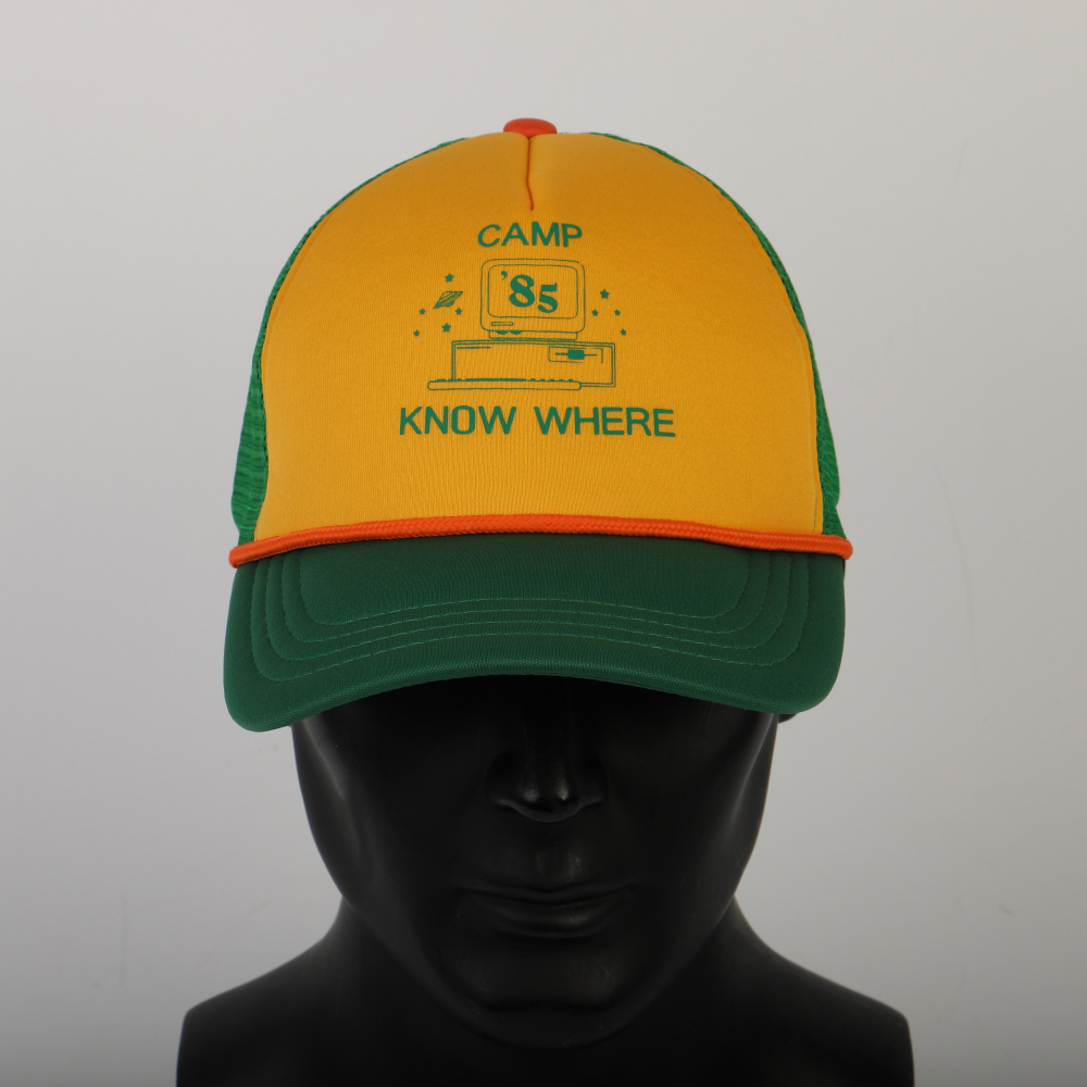 2019 Strange Things Dustin Hat Retro Mesh Trucker Cap Yellow Green 85 Know Where Adjustable Cap Gifts Halloween (4)