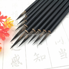 3 шт./компл. черный вытяжной Канат с тонкой Краски щетка китайская Ручка-кисть для каллиграфии волос ласки Краски художественные стационарный масло Краски ing кисть