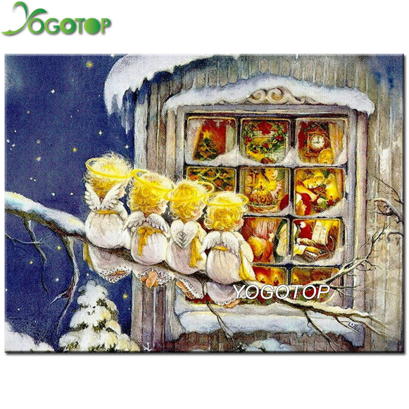 YOGOTOP 5D DIY Diamond Painting Full Square/Round Diamond Embroidery Mosaic Rhinestone Handmade Angel Christmas Decoration YY101