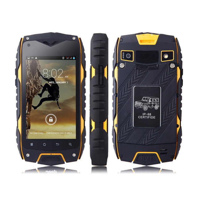GuoPhone Z6 Rugged Original Waterproof Smartphone 512MB RAM 4GB ROM MTK6572 Dual Core 4 0
