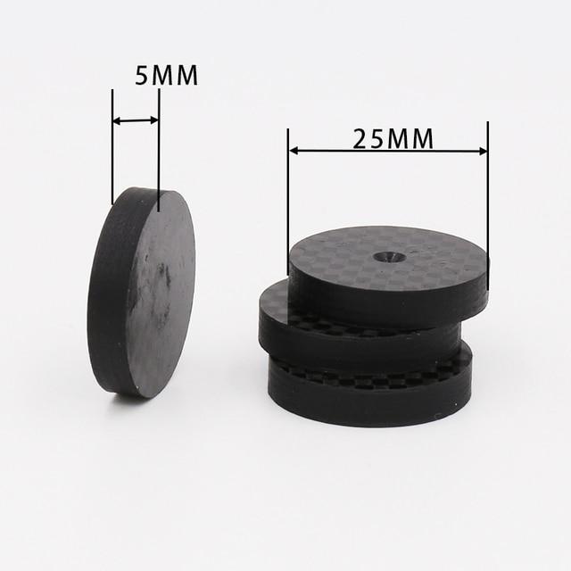 ISF0001 أسود الكربون الألياف عزل رئيس 25x5 مللي متر سبايك قاعدة سادة قدم حذاء ايفي 4 قطعة