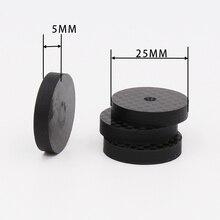 ISF0001 Noir En Fiber De Carbone Haut Parleur Disolement 25x5mm Spike Base Pad Chaussure Pieds Hifi 4 pièces