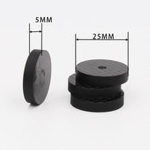 ISF0001 Schwarz Carbon Faser Lautsprecher Isolation 25x5mm Spike Basis Pad Schuh Füße Hifi 4 stücke
